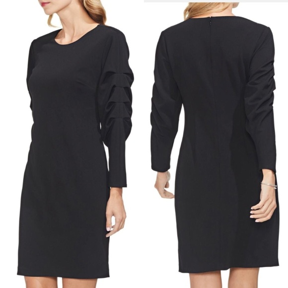 Vince Camuto Dresses & Skirts - NWT Vince Camuto Black Tiered Sleeve Dress